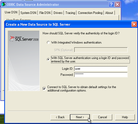 linked server odbc